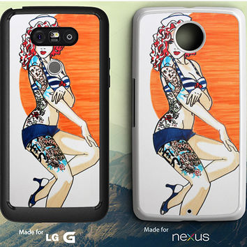Pin Up Girl Tatto Costume LG G3 | G4 | G5 Case, Nexus 5 | 6 Case