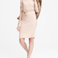 Wool-Cashmere Blend Ribbed Sweater Dress | Banana Republic