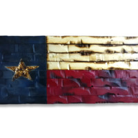 Texas State Flag Rustic Wood Decor 41x20