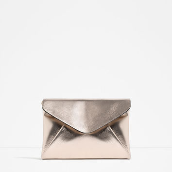 METALLIC CLUTCH BAG - View all-BAGS-WOMAN | ZARA United States