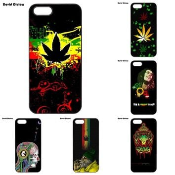 David Clulow Bob Marley Rasta Hard Plastic Phone Case Cover For iPhone 4 4S 5 5C SE 6 6S 7 8 Plus X iPod Touch 4 5 6