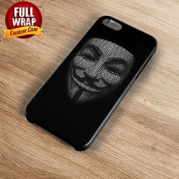 Anonymous Logo Mask Full Wrap Phone Case For iPhone, iPod, Samsung, Sony, HTC, Nexus, LG, and Blackberry
