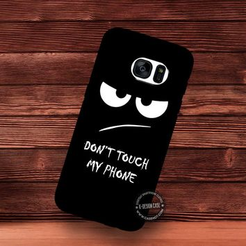 Don't Touch My Phone Black Wallpaper - Samsung Galaxy S7 S6 S5 Note 7 Cases & Covers