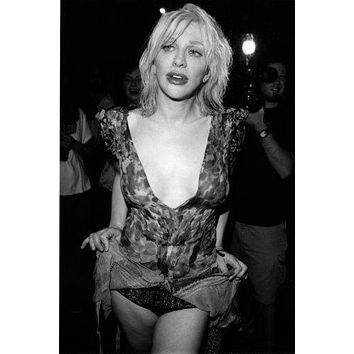 Courtney Love Poster Standup 4inx6in black and white