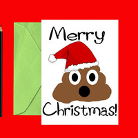 Funny Christmas card - Poop Christmas card - Funny holiday card - Christmas cards - Holiday cards - Printable Christmas card