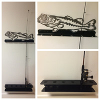 Fishing pole rack, pole holder