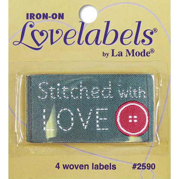 Labels, Stitched with Love, Craft Labels, Sewing Labels, BL-LL2590