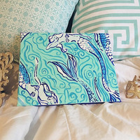 Lilly Pulitzer Inspired Canvas in Nice Tail
