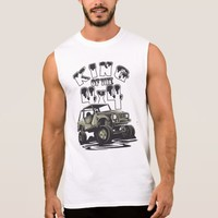 King of the 4x4 Off Road Mudding Sleeveless Shirt