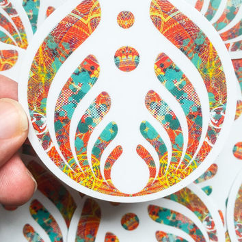 Bassnectar Sticker - Clear Vinyl