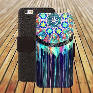 Dream watercolor colorful iphone 5/ 5s iphone 4/ 4s iPhone 6 6 Plus iphone 5C Wallet Case , iPhone 5 Case, Cover, Cases colorful pattern L042