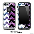 Blue/Pink Wood & Black/White Chevron Pattern Skin for the iPhone 5 or 4/4s LifeProof Case