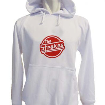 the strokes Hoodie Sweatshirt Sweater white variant color for Unisex size