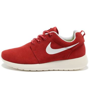 """""""Nike"""" Women Leather Red Casual Sport Running Sneakers Sport Shoes G-MDTY-SHINING"""