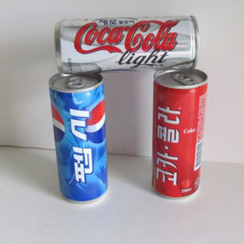 3 Korean Coca Cola Light Collectible Soda Cans Korea Instant Collection Soda Cans Full Contents Coke Collectible Pepsi Soda Can