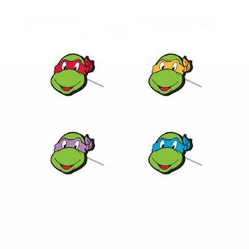 Teenage Mutant Ninja Turtles Faces 4 Stud Earrings