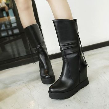 On Sale Hot Deal Height Increase Boots [11192772615]