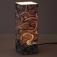 Glowing Wave Paper Lantern | Table Lamp