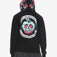 Disney Snow White And The Seven Dwarfs One Bite Poison Apple Girls Hoodie