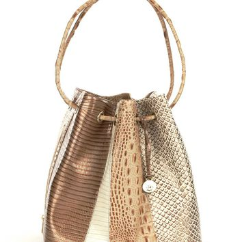 Brahmin Sahara Collection Trina Leather Drawstring Tote | Dillards