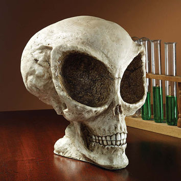 Park Avenue Collection Extra Terrestrial Alien Skull Statue