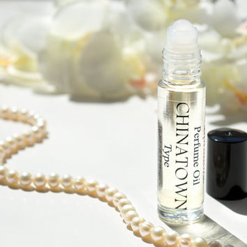 CHINATOWN Type Pure Perfume Oil. Natural, Vegan, Coconut Oil Luxury Roll-On Perfume. Alcohol Free. Travel Size 1/3 oz (10 ml)