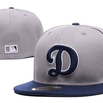 LMF8KY Los Angeles Dodgers New Era MLB Authentic Collection 59FIFTY Cap Grey-Blue D