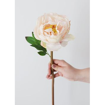 """Blush Natural Touch Silk Peony - 22"""" Tall"""