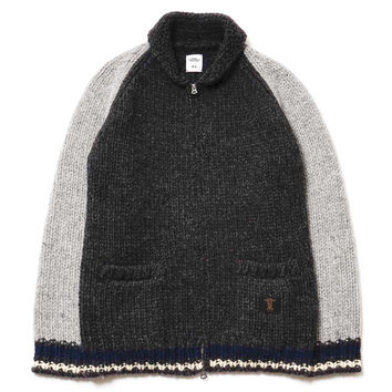 """Jaco"" Shawl Collar Cowichan Sweater"
