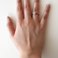 Silver Curved Nail Ring