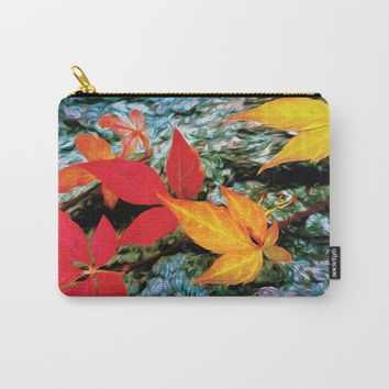 Fall Vine Carry-All Pouch by Heidi Haakenson