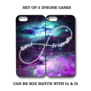 Custom Mint Purple Nebula BFF Best Friends Case -2 Cases for iPhone 6 5 5C S4 S5