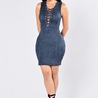 Wildfire Dress - Navy