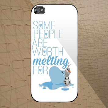 olaf quotes disney frozen custom design available for iphone 4/4s,5/5s/5c and samsung galaxy S3/S4/S5 case
