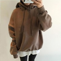 Thicken Hoodies Korean Women's Fashion Winter Hats [110332903449]