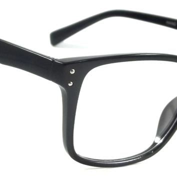 Retro Clear Lens Glasses Large Classic Trent Nerd Men Women Vintage Square Frame