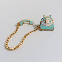 Rotary Dial Telephone Lapel Pin