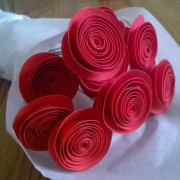 Shop paper flower arrangements on wanelo bouquet of 13 red paper roses from secret admirer rolled paper art flower arrangement valentines gift mightylinksfo