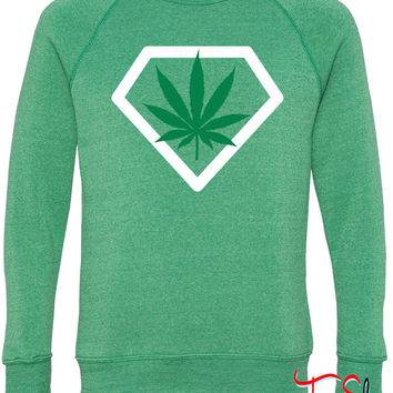 diamant weed fleece crewneck sweatshirt