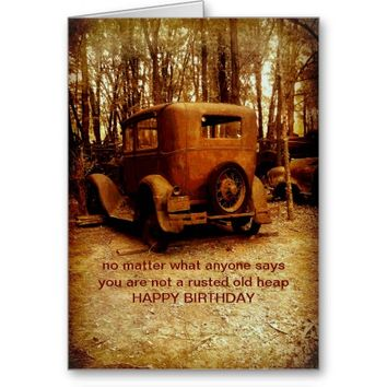 birthday card for classic car fan humorous photo