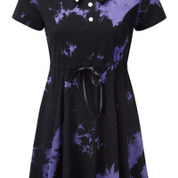 Dye Fast Tie Dye Dress [VIOLET]
