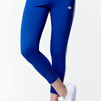 LA Colorblock 3-Stripe Leggings - Womens Pants - Blue