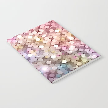 Rainbow glitter texture Notebook by printapix