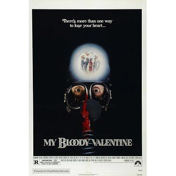 My Bloody Valentine Poster//My Bloody Valentine Movie Poster//Movie Poster//Poster Reprint