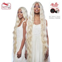 "Swiss Lace Front Wig - 6"" Deep Center Part XLong Wavy Style 42"" - LSD91"