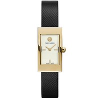 Tory Burch Black Leather/gold-tone, 31 X 17 Mm
