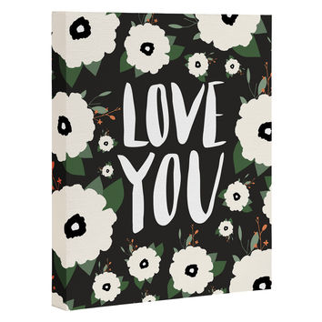Allyson Johnson Love you floral Art Canvas