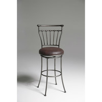 Tampico 30-inch Barstool with Brown Faux Leather Upholstered Swivel Seat