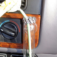 VW Beetle Flower Vase for  the Classic Beetle - Diamond and Grey Bling
