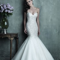 Allure Couture C286 Beaded Mermaid Wedding Dress